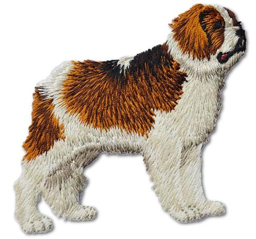 Saint Bernard Embroidered Iron On Patch
