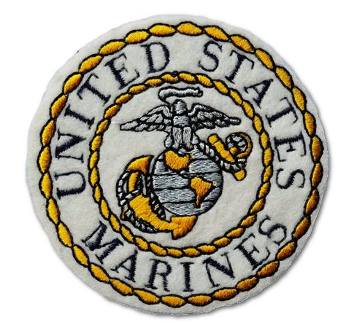 United States Marine Embroidered Iron On Patch