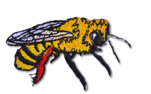 Yellowjacket Embroidered Iron On Patch