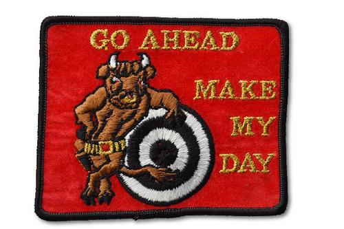 Make My Day Embroidered Iron On Patch