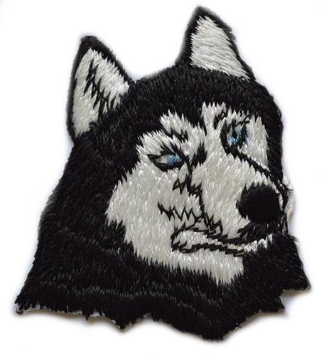 Kenco Customs Iron On Siberian Husky Patch