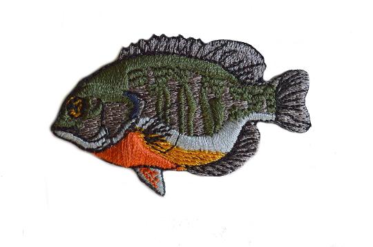 Blue Gill Iron On Embroidered Emblem