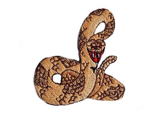 Rattlesnake Embroidered Iron On Emblem
