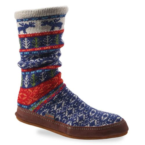 Acorn Patterned Slipper Socks