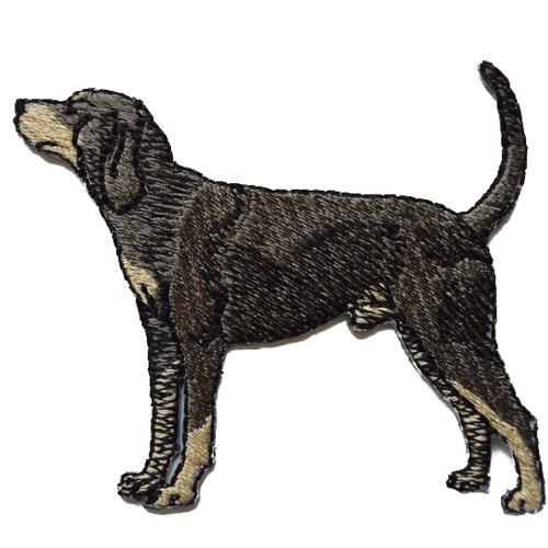 Hound Dog Embroidered Iron On Patch