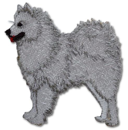Samoyed Embroidered Iron On Patch