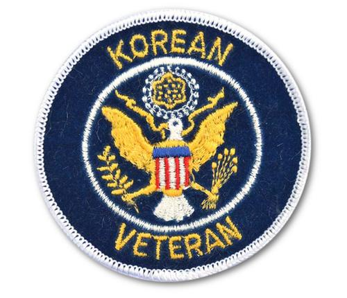 Korean War Veteran Embroidered Iron On Patch