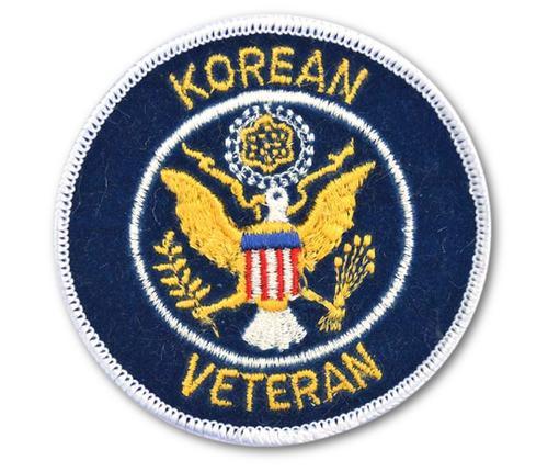 Korean War Veteran Embroidered Iron On Patch