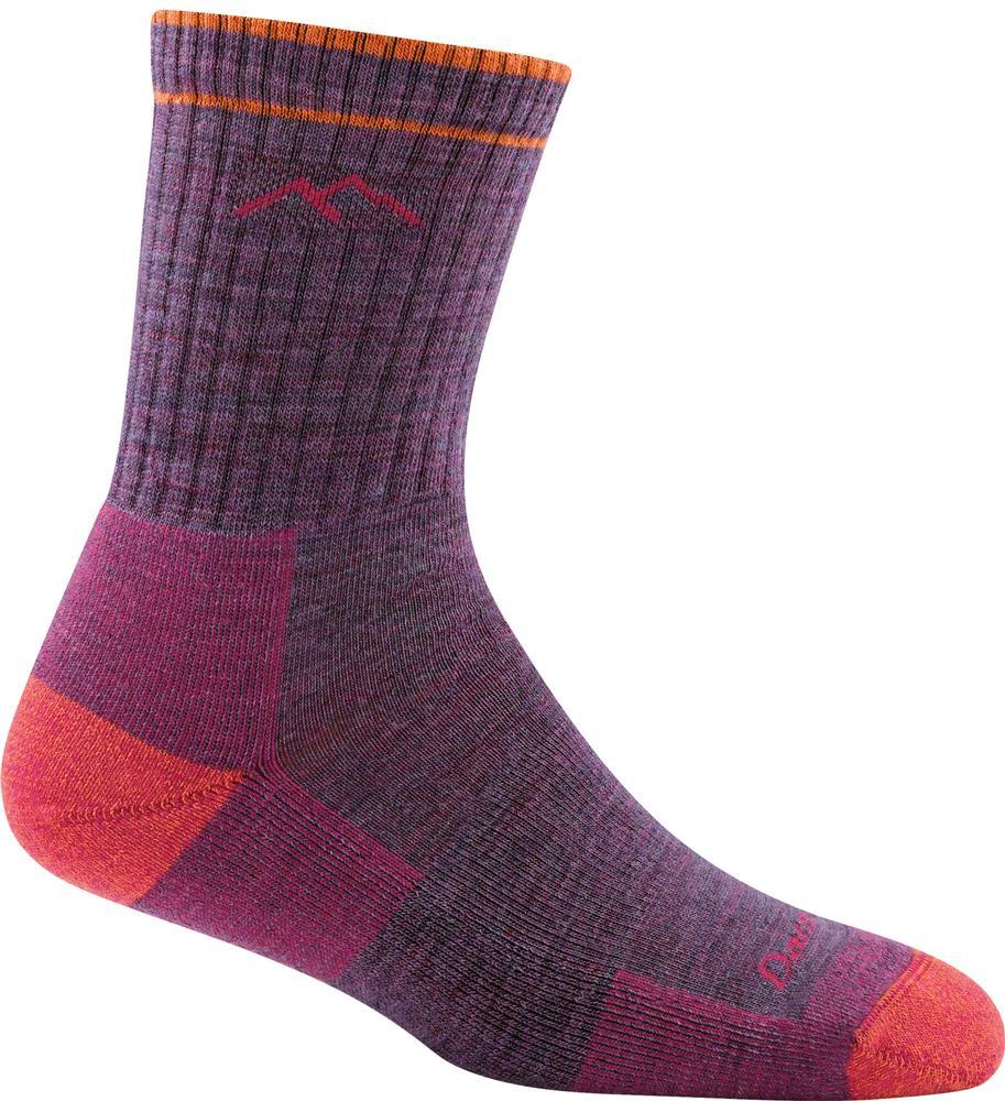 Darn Tough Women's Hiker Micro Crew Cushion Socks PLUM