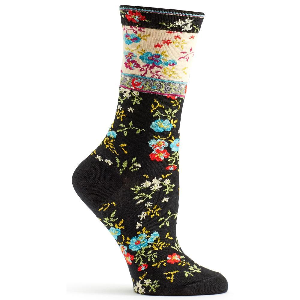 Ozone Women's Mona Linen Sock BLACK