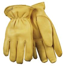 Kinco Grain Deer Skin Leather Driving Gloves with HeatKeep Lining BROWN
