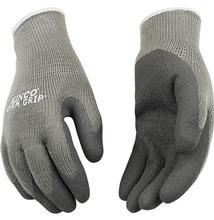 Kinco Women's Thermal Knit Sandy Nitrile Palm Gloves GRAY