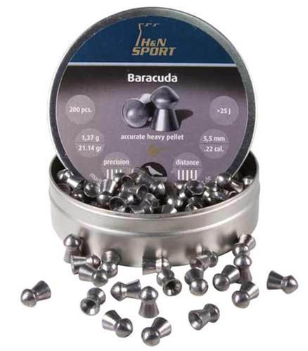 H&N Baracuda .22 Cal, 21.14 Grains, Round Nose, 200ct