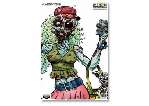Birchwood Casey Zombie Darkotic Shopping Spree Splattering Target