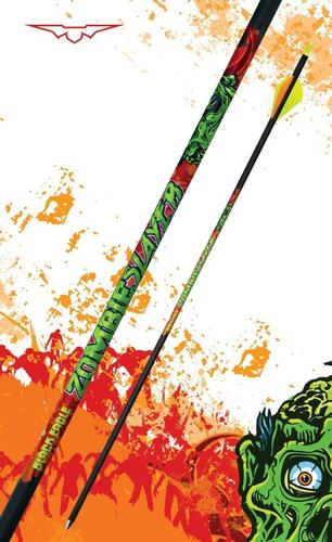 Black Eagle Arrows Zombie Slayer Fletched Carbon Arrows 500 Spine 6-Pack