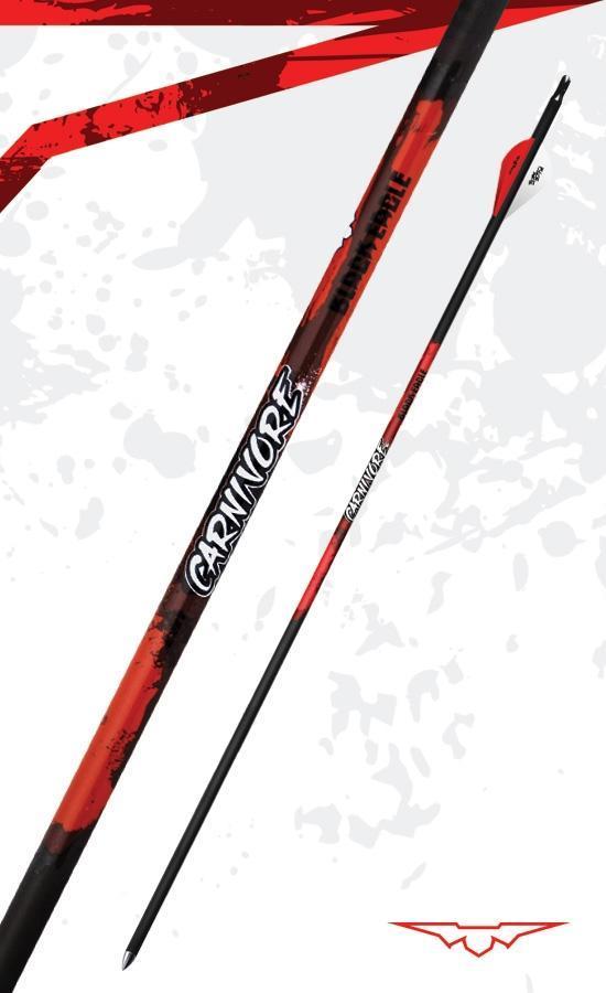 Black Eagle Arrows Carnivore Ultra Light Fletched Arrows 6- Pack 350 Spine