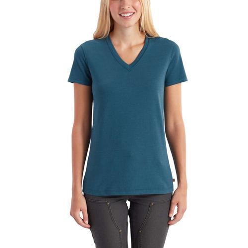 Carhartt Women's Lockhard Short Sleeve V-Neck T-Shirt