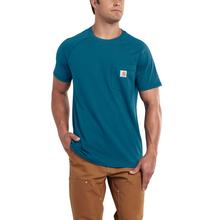 Carhartt Men's Force Cotton Delmont Short Sleeve T-Shirt BAY_HARBOR
