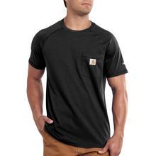 Carhartt Men's Force Cotton Delmont Short Sleeve T-Shirt BLACK