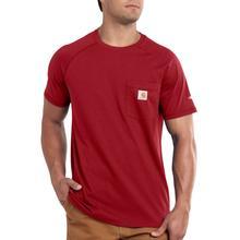 Carhartt Men's Force Cotton Delmont Short Sleeve T-Shirt CRIMSON