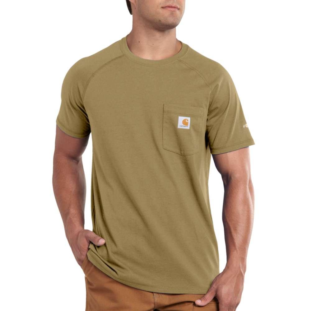 Carhartt Men's Force Cotton Delmont Short Sleeve T-Shirt DARK_KHAKI