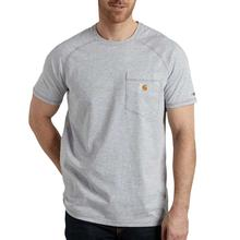 Carhartt Men's Force Cotton Delmont Short Sleeve T-Shirt HEATHER_GREY