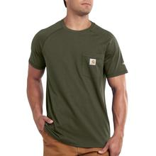 Carhartt Men's Force Cotton Delmont Short Sleeve T-Shirt MOSS