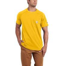 Carhartt Men's Force Cotton Delmont Short Sleeve T-Shirt MUSTARD