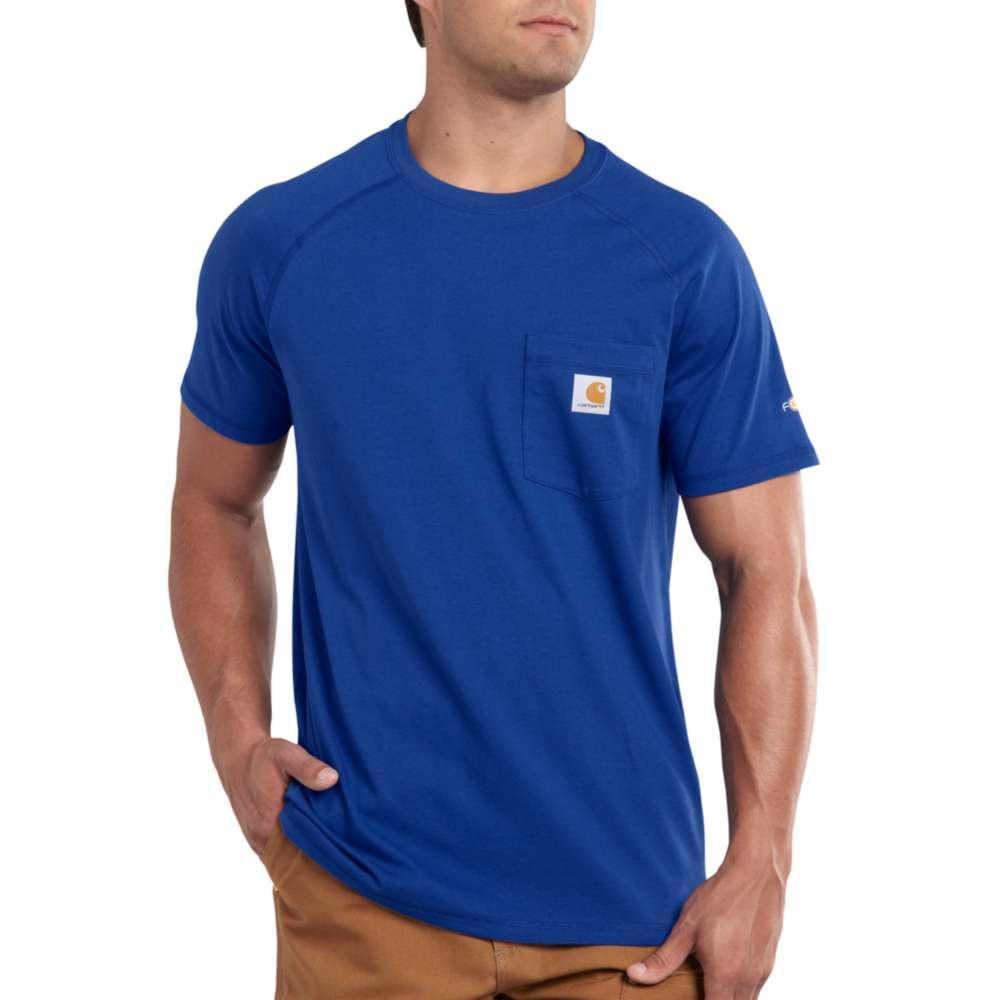 Carhartt Men's Force Cotton Delmont Short Sleeve T-Shirt NAUTICAL_BLUE