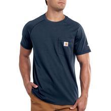 Carhartt Men's Force Cotton Delmont Short Sleeve T-Shirt NAVY