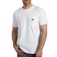Carhartt Men's Force Cotton Delmont Short Sleeve T-Shirt WHITE