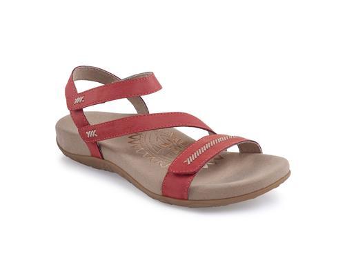 Aetrex Women's Gabby Quarter Strap Sandal in Flamingo