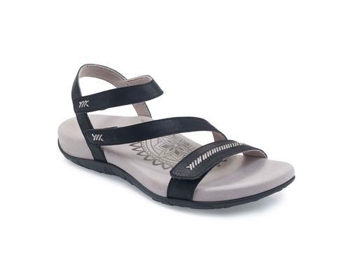 Aetrex Women's Gabby Quarter Strap Sandal in Black