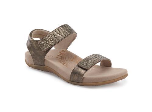 Aetrex Women's Maria Quarter Strap Sandal in Bronze