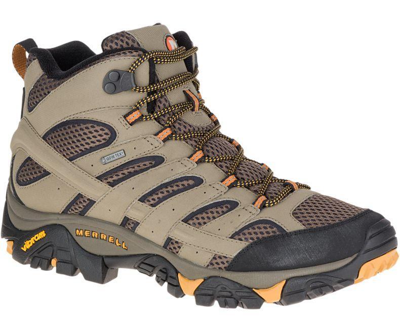 Merrell Men's Moab 2 Mid GTX Hiking Boots WALNUT