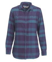 Woolrich Women's Pemberton Boyfriend Shirt PURPLE