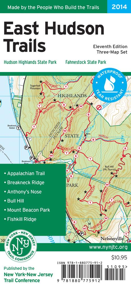 East Hudson Trails Map - 2018 By Ny- Nj Trail Conference