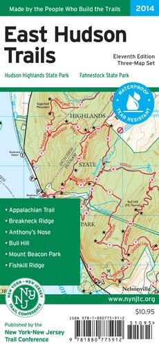 East Hudson Trails Map - 2018 by NY-NJ Trail Conference
