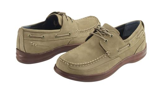 Aetrex Men's Justin Boat Shoe in Tan