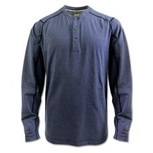 Arborwear Men's Tech Henley Long Sleeve HEATHER_BLUE