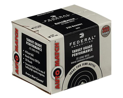 Federal Ammunition 22 Long Rifle Lead Round Nose 325 Rounds