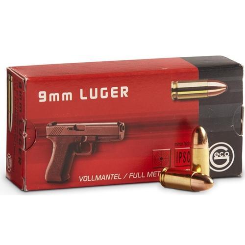 Geco 9mm Luger 124gr Full Metal Jacket Ammunition 50 Rounds