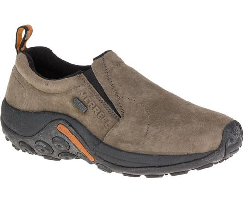 Merrell Women's Jungle Moc Waterproof Slip On Shoe Gunsmoke