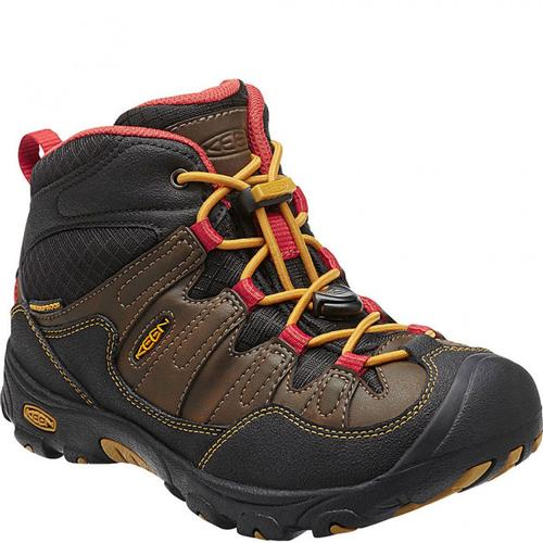 Keen Kid's Pagosa Mid Waterproof Hiking Boot Cascade Brown