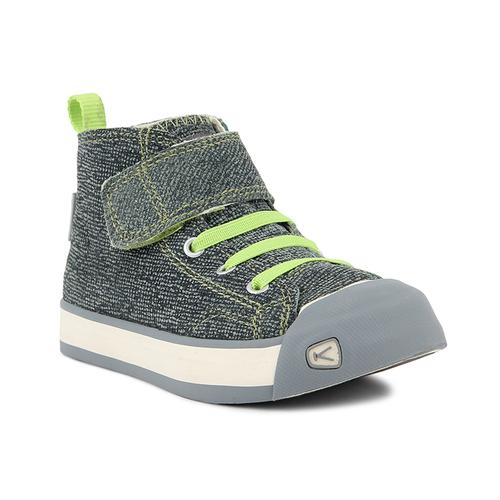 Keen Kid's Coronado High Top Sneaker Green Plaid