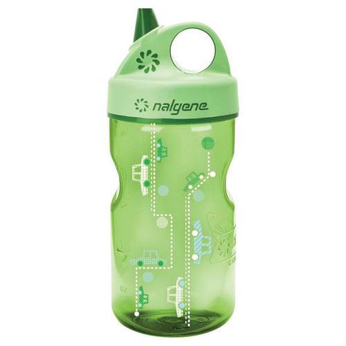 Nalgene Grip N Gulp Bottle Spring Green Cars