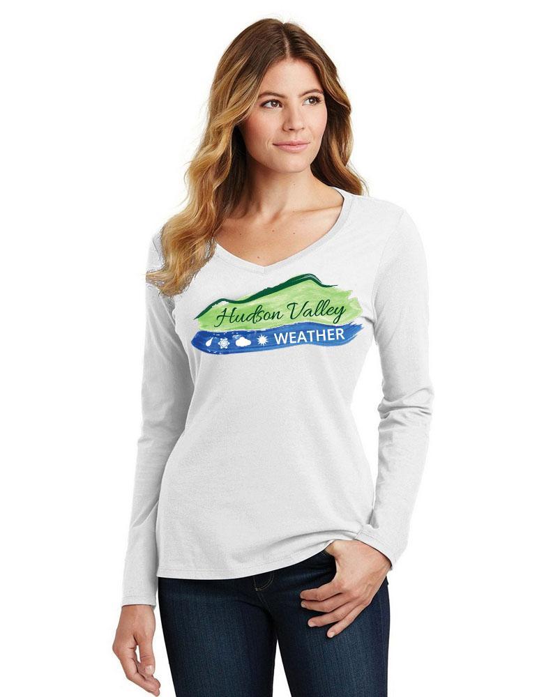 Women's Hudson Valley Weather Long Sleeve V Neck Tee