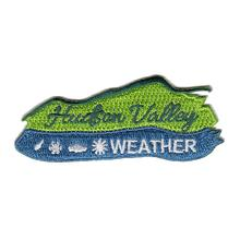 Hudson Valley Weather Embroidered Patch GREEN