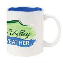 Hudson Valley Weather Logo Ceramic Color Accent Mug WHITE