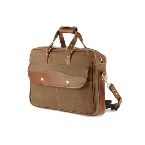 Mission Mercantile Canvas and Leather Briefcase
